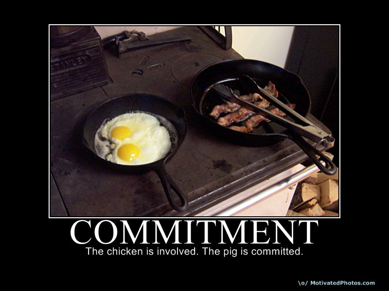 Commitment Chicken Pig Bacon Eggs: This Meme Almost Makes Me Want To Join PETA