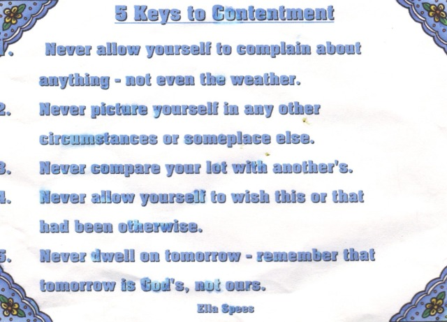 8 Keys To Contentment